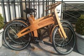 Houten fietsen bij Banks Mansion Amsterdam