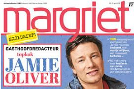 Jamie Oliver maakt blad Margriet