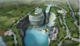 China bouwt hotel deels onder de grond