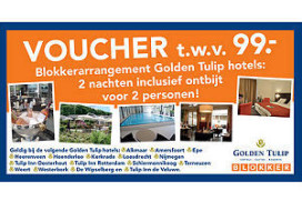 Blokker en Golden Tulip ook in hotelvouchers