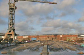 Hotel in kraan NDSM-terrein in november open