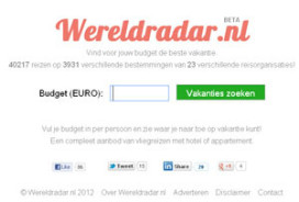 Nieuwe reiszoekmachine Wereldradar.nl zoekt louter op budget