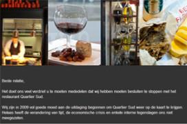 Restaurant Quartier Sud in Amsterdam dicht