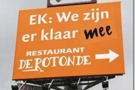 Restaurant klaar met Oranje