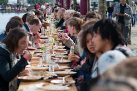 Nieuw nationaal record Langste Vegetarische Tafel