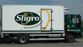 Nieuwe schone en stille vrachtwagen voor Sligro