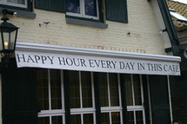 CU noemt schrappen happy hours loos gebaar