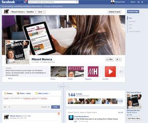 Facebookpagina Misset Horeca telt ruim 2.700 likes