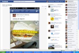 Te korte Subway-broodjes hit op Facebook