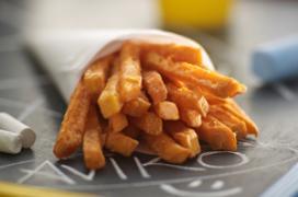 Oranje frites voor verjaardag Koningin