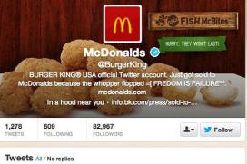 McDonald's fan hackt twitteraccount Burger King