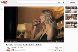 Supermodel Heidi Klum in sexy hamburgerreclame