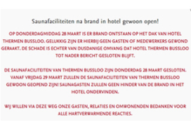Hotel Thermen Bussloo na brand gesloten