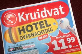 Kruidvat stunt weer met hotelvoucher van 11,99 euro