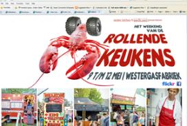 Foodtrucks verzamelen zich in Amsterdam