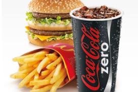 Coca-Cola Zero bij McDonald's Nederland