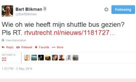 Gestolen hotelbus terug dankzij Twitter