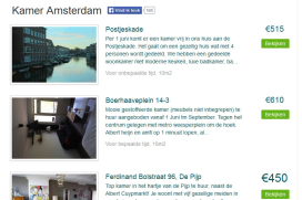 'Door Airbnb minder studentenkamers beschikbaar