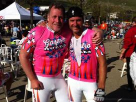 Alpe d'HuZes: Dick Middelweerd en Ron Blaauw 7 keer naar top