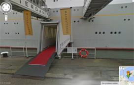 Interieur SS Rotterdam op Google Street View