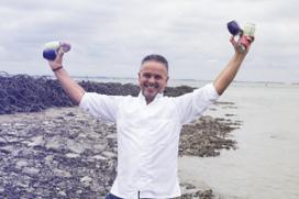 Edwin Vinke** ontwikkelt groentesappen met zeewater