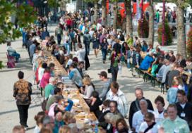 Langste Vegetarische Tafel dit jaar 1500 deelnemers