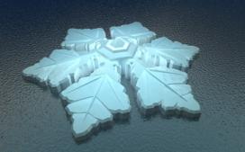 Hotel in vorm van sneeuwkristal