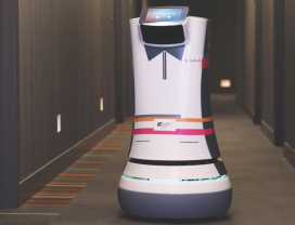 Robotbutlers in Aloft Cupertino hotel in de VS