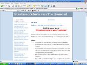 Web-petitie Staatssecretaris voor Toerisme