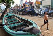 Hotels verwoest door tsunami