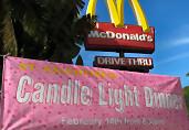 Romantisch tafelen bij McDonald's