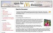 McDonald's blogt over vetzucht
