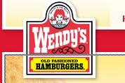 Hamburgerketen Wendy's in etalage