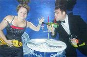 500 gasten dineren onder water