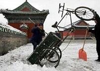 Chinese hotels getroffen door zware sneeuwval