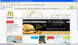 McDonald's lanceert nieuwe website