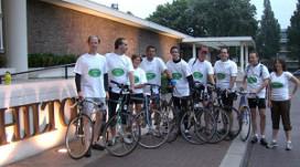 Hilton-medewerkers fietsen voor schoner milieu