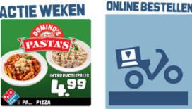 Domino's Pizza bezorgt nu ook pasta