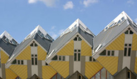 Stayokay Hostel in kubuswoningen Rotterdam