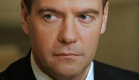 Medvedev logeert in Okura-hotel