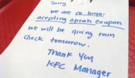 KFC aangeklaagd vanwege weggeefactie