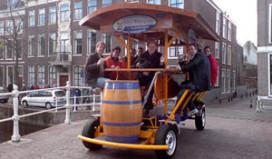 Bierfiets mag voorlopig blijven in Amsterdam