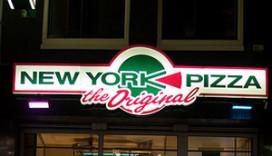 Amsterdamse pizzeria kort en klein geslagen