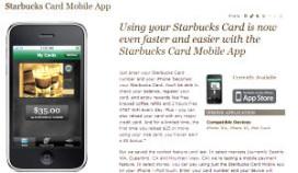 Koffie bestellen met iPhone bij Starbucks