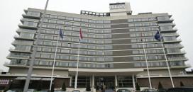 Stadsdeel achter extra etages Hilton A'dam