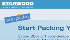 Winstdaling Starwood Hotels 65 procent