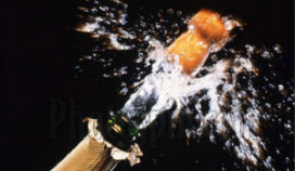 Pas op voor champagnekurk!