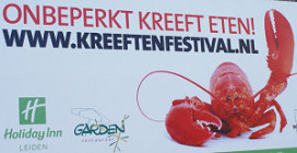 12.000 kreeften voor Holiday Inn Leiden