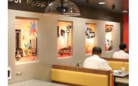 Burger King gaat op chique toer met muziekhoek