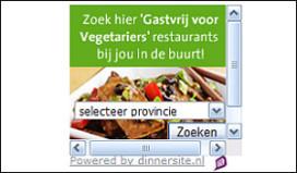 Samenwerking Dinnersite.nl en Vegetariërs Bond